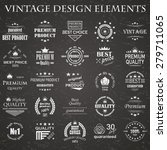 premium quality labels set.... | Shutterstock .eps vector #279711065