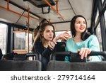 wo beautiful girls riding... | Shutterstock . vector #279714164