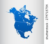 map of north america | Shutterstock .eps vector #279715754