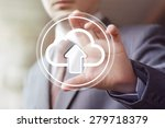 businessman touch button web... | Shutterstock . vector #279718379