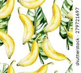 Watercolor Pattern With Bananas ...
