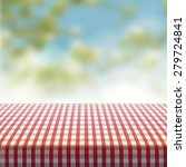 vector picnic table covered... | Shutterstock .eps vector #279724841