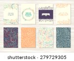 a set of flyers  brochures ... | Shutterstock .eps vector #279729305