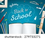 back to school background. eps... | Shutterstock .eps vector #279733271