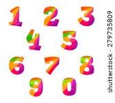 numbers set in trendy polygonal ...   Shutterstock .eps vector #279735809