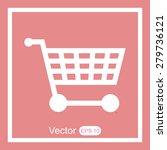 shopping cart icon | Shutterstock .eps vector #279736121