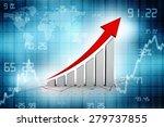 graph rising   Shutterstock . vector #279737855