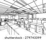 outline sketch drawing... | Shutterstock .eps vector #279743399