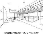 outline sketch drawing... | Shutterstock .eps vector #279743429