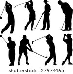golfers collection   vector | Shutterstock .eps vector #27974465