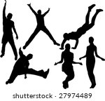 people jumping vector | Shutterstock .eps vector #27974489