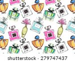 Vector Seamless Perfume Pattern