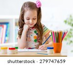 cute little preschooler child... | Shutterstock . vector #279747659