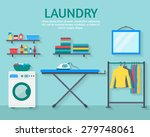laundry room with washing... | Shutterstock .eps vector #279748061
