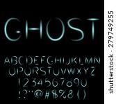 ghost   spooky font. vector | Shutterstock .eps vector #279749255