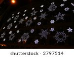 Snowflake Lights Display at Saks Fifth Avenue in New York City