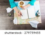 planning travel for a cup of... | Shutterstock . vector #279759455