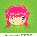 expressions of girl's fase ... | Shutterstock .eps vector #27976337