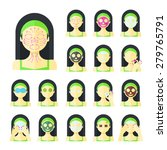 vector flat illustration  set... | Shutterstock .eps vector #279765791