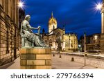 David Hume Statue In Front Of...