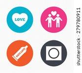 circle buttons. condom safe sex ... | Shutterstock .eps vector #279780911