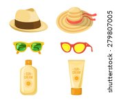 Sun Balm  Glasses And Hats. Su...