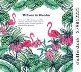 beautiful vector exotic floral... | Shutterstock .eps vector #279812225