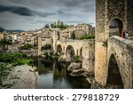 View Of Medieval Town With...