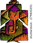 lord ganesha invite card design  | Shutterstock .eps vector #279833351