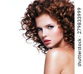 profile portrait of beautiful... | Shutterstock . vector #279833999