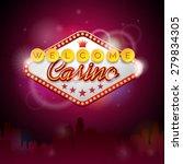 vector illustration on a casino ... | Shutterstock .eps vector #279834305
