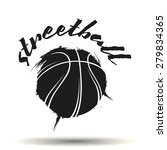 streetball icon logo in grunge... | Shutterstock .eps vector #279834365