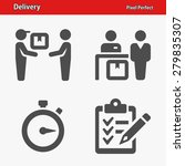delivery icons. professional ... | Shutterstock .eps vector #279835307