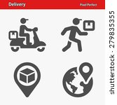 delivery icons. professional ... | Shutterstock .eps vector #279835355