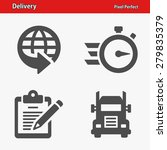 delivery icons. professional ... | Shutterstock .eps vector #279835379