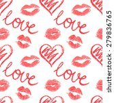 vector seamless pattern  lips... | Shutterstock .eps vector #279836765