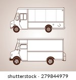 delivery trucks | Shutterstock .eps vector #279844979