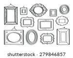 vector set of vintage photo... | Shutterstock .eps vector #279846857