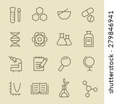 science line icon set