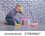 apartment cleaning and washing... | Shutterstock . vector #279848867