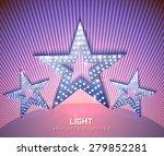 stars retro light banner pink... | Shutterstock .eps vector #279852281