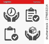 logistics icons. professional ... | Shutterstock .eps vector #279853214