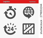 logistics icons. professional ... | Shutterstock .eps vector #279853244