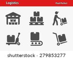 logistics icons. professional ... | Shutterstock .eps vector #279853277