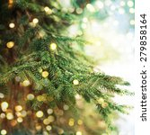 closeup of christmas tree | Shutterstock . vector #279858164