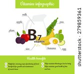 infographic set of vitamin b7... | Shutterstock .eps vector #279859361