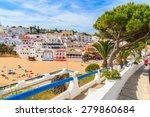 promenade along street in... | Shutterstock . vector #279860684