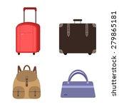 vector set of luggage ... | Shutterstock .eps vector #279865181