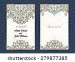 vintage ornate cards in... | Shutterstock .eps vector #279877385