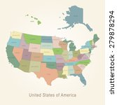 usa administrative map   Shutterstock .eps vector #279878294